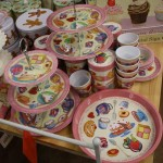 Cake stands - colourful designs