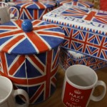 Cake storage tins - union jack design