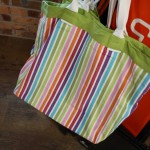 Colourful laundry bag