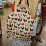 Kitchen aprons - hens and cockerels design