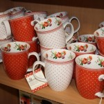 Mugs - red and white designs