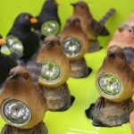 Bird styled solar lights