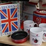 Union jack recipe book and mugs