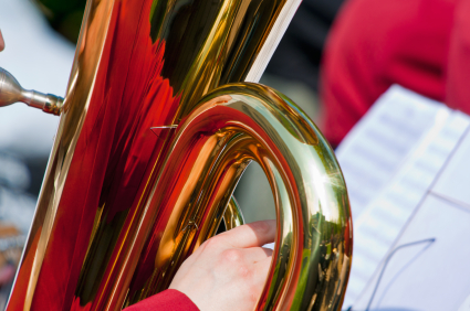 Tuba with reflection