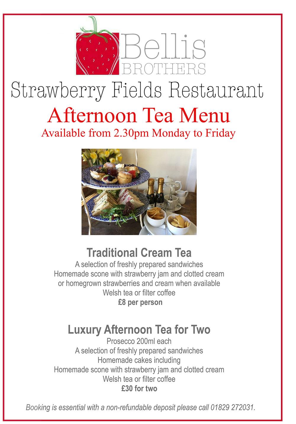 Download our Afternoon Tea Menu